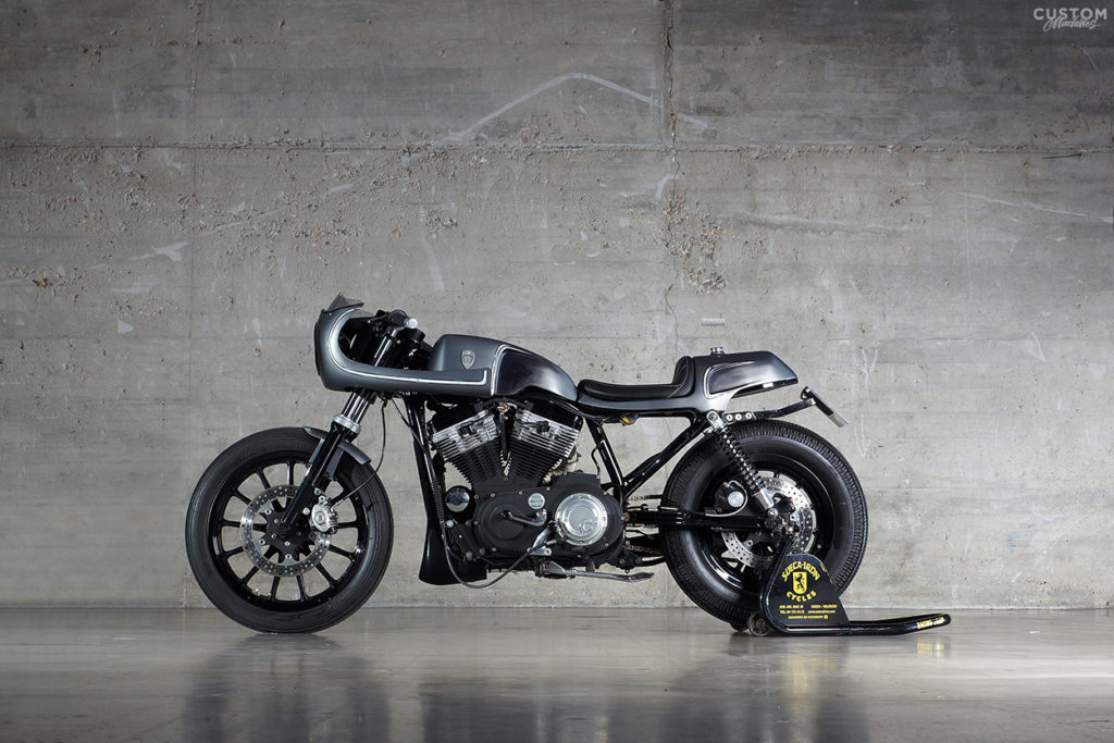 Cafe Solo H D Sportster Sueca Iron Custom Machines 02