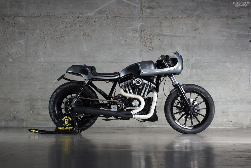 Cafe Solo H D Sportster Sueca Iron Custom Machines 05